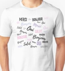 French Words Unisex T-Shirt