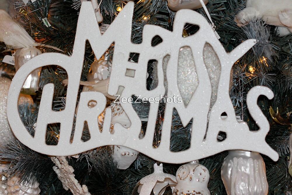 Merry Christmas Ornament  by ZeeZeeshots