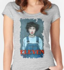 Eleven from Stranger Things Women's Fitted Scoop T-Shirt