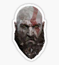 God of War Poly Head Sticker