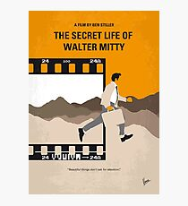 No806 My The Secret Life of Walter Mitty minimal movie poster Photographic Print