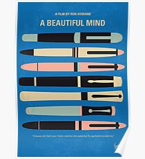 No809 My A Beautiful Mind minimales Filmplakat Poster