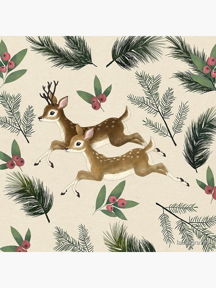 ciervos de invierno // patrón de repetición de lauragraves