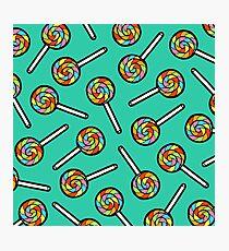 Rainbow Lollipop Pattern Photographic Print