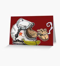 SPACE MONKEY- Urban style Ape Art  Greeting Card