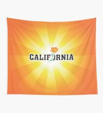 California the Golden State Wall Tapestry