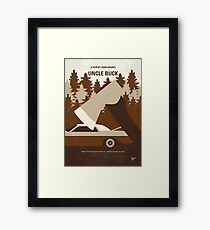 No818 My Uncle Buck minimal movie poster Framed Print