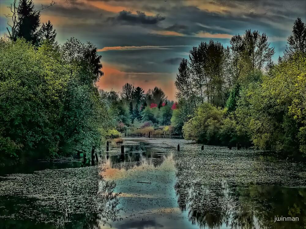 Fishtrap Creek at sunset by jwinman