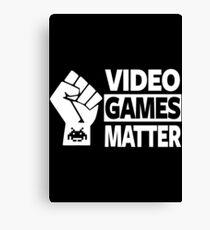GAMING - VIDEO GAMES MATTER - GAMER Canvas Print