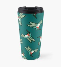 Hummingbird Pattern  Travel Mug