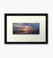 Boats by The Creek in Norfolk Framed Print