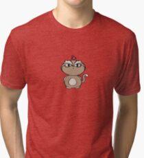 Sumo Cat & Pushkin Tri-blend T-Shirt
