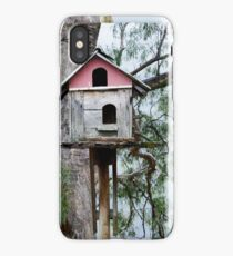 Birdhouse by the Tree iPhone Case/Skin