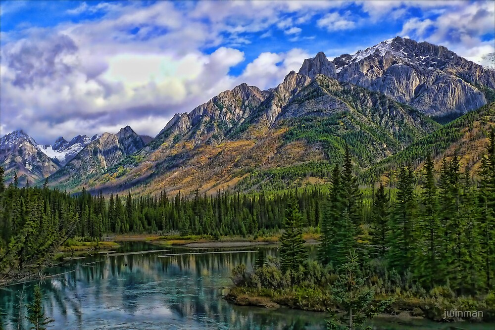 Rocky Mountain Scene by jwinman