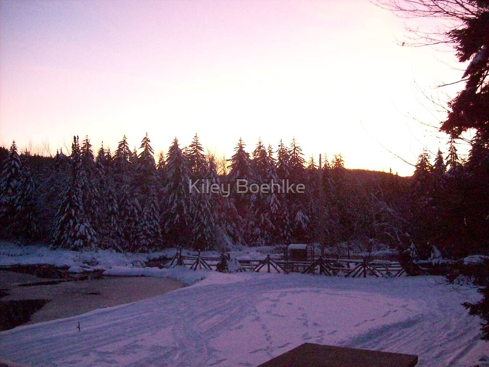 Sunset From My Deck. by Kiley Boehlke