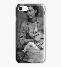 Dorothea Lange, Migrant mother (alternative), Nipomo, California, 1936 2 iPhone Case/Skin