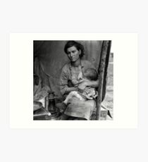 Dorothea Lange, Migrant mother (alternative), Nipomo, California, 1936 2 Art Print