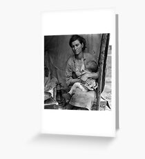 Dorothea Lange, Migrant mother (alternative), Nipomo, California, 1936 2 Greeting Card