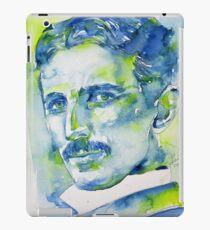 NIKOLA TESLA - watercolor portrait.7 iPad Case/Skin