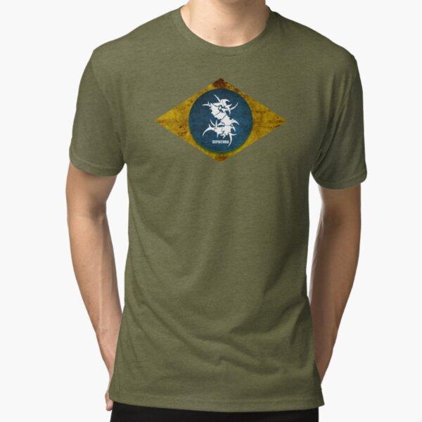 Envejecido goteo Gótico Calavera Y Escocia Escocés Andrés Bandera Para Hombre Camiseta Regalo