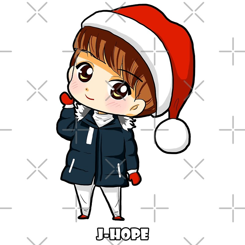 Quot J Hope Bts Merry Christmas Chibi Quot Posters By Lysavn
