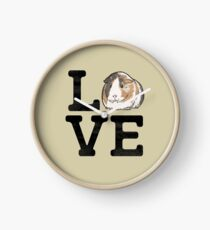 Love Guinea Pigs - Cute Guinea Pig Pet Lover Clock