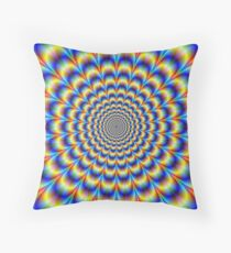 Psychedelic Pulse in Blue and Yellow  Floor Pillow