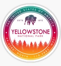 Yellowstone National Park Wyoming Montana Idaho Emblem Souvenirs Sticker