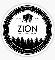 Zion National Park Utah Emblem UT Souvenirs Sticker