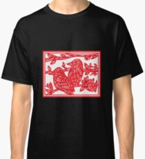 Beleaguer Bird Red White Classic T-Shirt