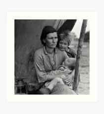 Dorothea Lange, Migrant mother (alternative), Nipomo, California, 1936 Art Print