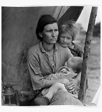 Dorothea Lange, Migrant mother (alternative), Nipomo, California, 1936 Poster