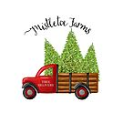 Mistletoe Farms Red Truck with Christmas Trees by Ann Drake