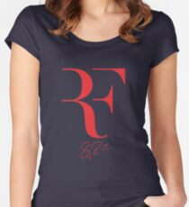 Roger Federer RF - Red Women's Fitted Scoop T-Shirt