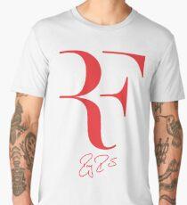 Roger Federer RF - Red Men's Premium T-Shirt