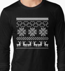 Winter time Black Long Sleeve T-Shirt