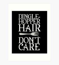 Funny Mermaid Gifts - Dinglehopper Hair - Best Cute Gift for Her, Women, Girlfriend, Best Friend, Wife, Daughter, Mom or Sister Art Print