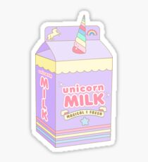 Kawaii Unicorn Milk Carton Sticker