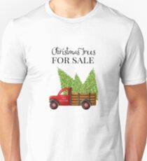 Christmas Trees For Sale Red Truck Unisex T-Shirt