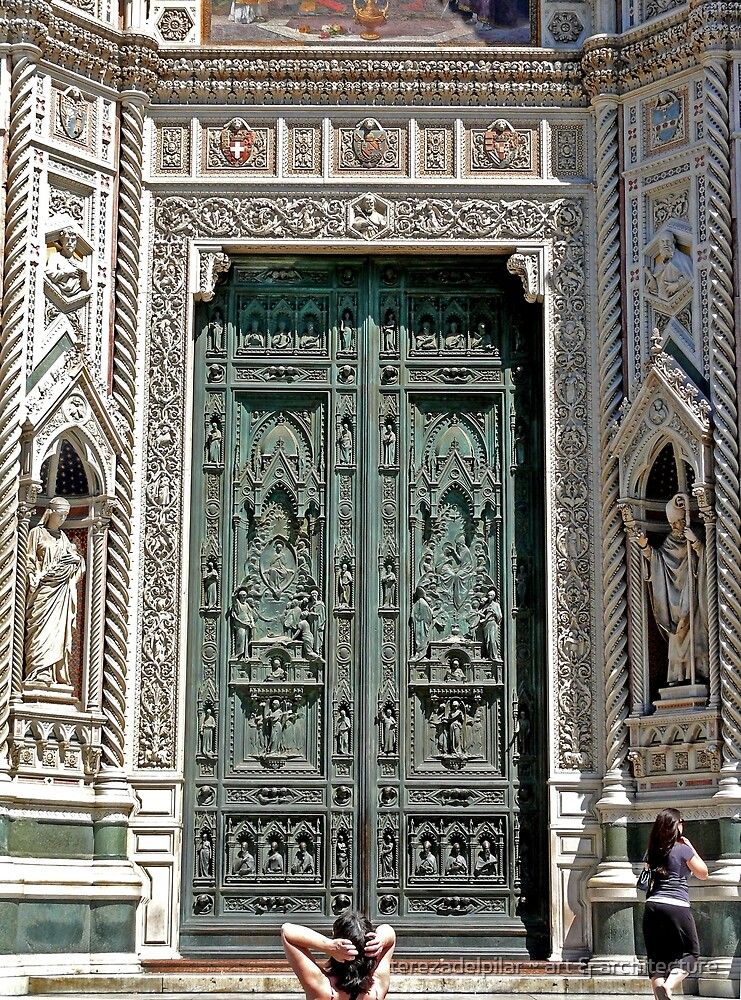 Florence. The Dome door. by terezadelpilar ~ art & architecture