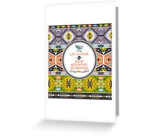 Seamless aztec pattern with geometric elements Greeting Card