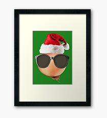 Funny Vegan Christmas Onion Santa Hat Gift Ideas Gerahmtes Wandbild