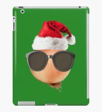 Funny Vegan Christmas Onion Santa Hat Gift Ideas iPad Case/Skin