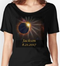 Jackson Hole Wyoming Solar Eclipse  Women's Relaxed Fit T-Shirt