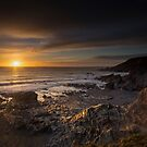 Sunset at Church cove Cornwall by eddiej