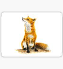 Watercolour Fox Sticker