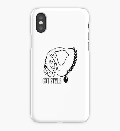 Got Style - Pug with Perls VRS2 iPhone Case/Skin
