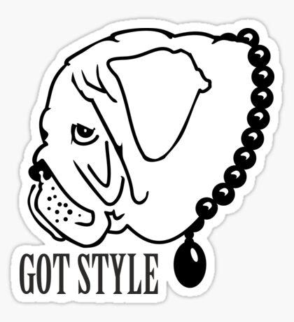 Got Style - Pug with Perls VRS2 Sticker