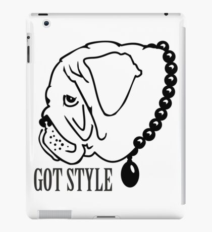 Got Style - Pug with Perls VRS2 iPad Case/Skin