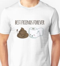 Best Friends Forever Poop And Toilet Paper Funny T-Shirt